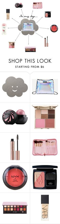 """""""Inside my bag..."""" by acro2005 ❤ liked on Polyvore featuring beauty, LIND DNA, Stila, NYX, Christian Dior, Anastasia Beverly Hills, NARS Cosmetics and Dove"""