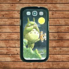 Samsung Galaxy S3 case--Totoro On Tree,in plastic hard case,black or white or clear color by tomes8899, $14.99