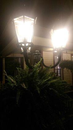 5 Ojo Inn Bed and Breakfast at night in Eureka Springs, Arkansas.