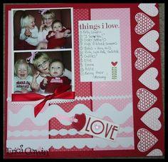 Valentine scrapbook page