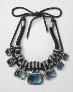 Pave Crystal & Rope Necklace by Lanvin at Bergdorf Goodman.