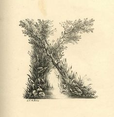 Letterology: A Mid-19th C Landscape Alphabet