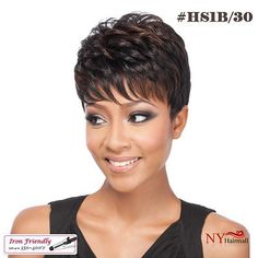 The latest synthetic and human hair wigs from Raquel Welch, Jon Renau, and more. Short Hair Wigs, Short Hair With Bangs, Hairstyles With Bangs, Human Hair Wigs, Easy Hairstyles, Natural Hairstyles, Wigs For Black Women, Synthetic Wigs, Textured Hair