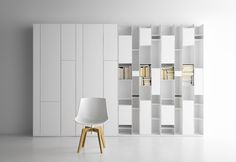 White Minimalist Modern Design Shelving Systems from MDF Italia Bookcase Shelves, Display Shelves, Storage Shelves, Filing Storage, Large Bookshelves, Cabinet Storage, Minimalist Home Furniture, Minimalist House, Etagere Design