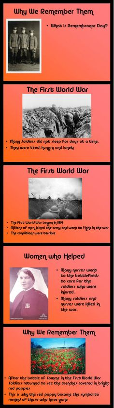 A short presentation about World War I, Remembrance Day and the symbolism of the poppy.