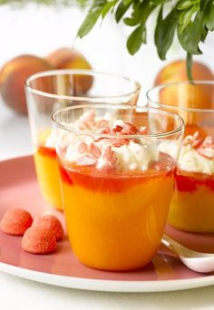 Peach-mascarpone verrines