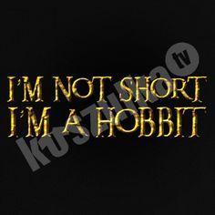 Koszulka.tv - Śmieszne koszulki z nadrukiem » Im not short im hobbit