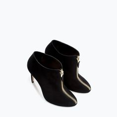 HIGH HEEL BOOTIE WITH ZIP-Shoes-Woman-SHOES & BAGS | ZARA United States