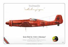"""LUFTWAFFE (WW2)Focke-Wulf Ta 152H-1 Höhenjäger"""" High-Altitude FighterGeflogen von Oberstleutnant Fritz Aufhammer, Stab/JG 301Stendal/Deutschland, 22. März 1945"""