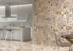 Patterned tile! Pattern Multicolour 450mm x 450mm – Atlas Ceramics. Too much pattern. Don't think so!