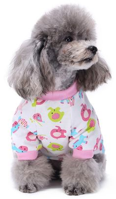 Amazon.com   MaruPet Puppy Cartoon Thermal Jumpsuit Sweety Cherry Printed  Splice Snap Pajamas for Small 005a4be488b4