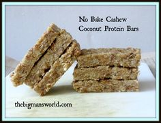 No Bake Cashew Coconut Protein Bars- Healthy on the go snacking is KEY to avoid the vending machine or quick store! No Bake Protein Bars, Healthy Protein Bars, Coconut Protein, Protein Foods, Healthy Treats, Healthy Desserts, Healthy Cooking, Vegan Protein, Healthy Eating