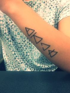 Explore. Challenge. Open to change. Transcend. Tattoo. I would only get three of the deltas, but in a more subtle way