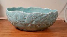 Nelson McCoy Butterfly Medium Console Bowl - Green or Aqua