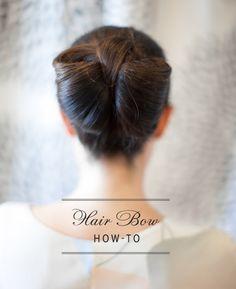 O laço de cabelo   31 penteados maravilhosos para casamento que você mesma pode fazer
