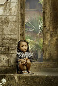 Girl from Tenganan Village in Bali, Indonesia, by Andre Ramayadi, via Flickr