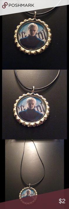 NWOT handmade HP Malfoy bottlecap necklace NWOT handmade HP Malfoy bottlecap necklace Jewelry Necklaces