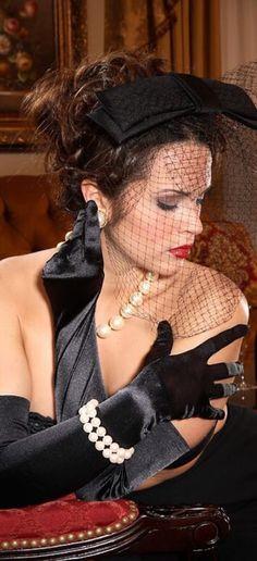 * Luxe satin gloves & pearls } Donna's +Closet #luxury #luxury #luxury #details