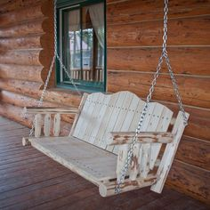 A front porch needs a swing, and this just might be the one-- Montana Woodworks Ready to Finish Porch Swing. Read customers' 5-star reviews of this handcrafted American classic.