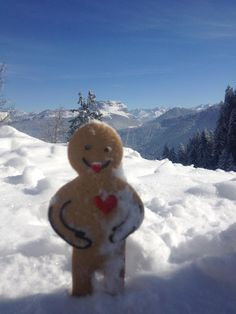 Snowballing can be a bit dangerous when you are just Jolly Ginger sized!