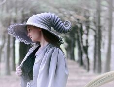 HandiCraftKate  wizard hat, witch hat, fairy hat, strange hat, forest hat, forest girl, woodland style, boho, mori