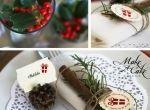 Come preparare la tavola di Natale semplice e naturale