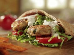 Melissa's Greek Chicken Burgers are a healthy alternative to classic gyros.