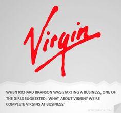 #Virgin, The origin of brand names