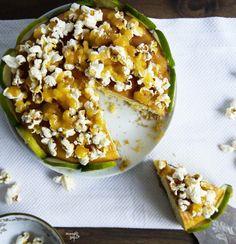 Blondietörtchen mit Popcorn und Limette LAKTOSEFREI // Blondie cake with Popcorn topping and lime LACTOSEFREE *Hummelsüß*