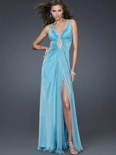 A-Linie mit V-Ausschnitt Sleeveless bodenlangen Chiffon Prom/Abendkleider 286,89 €   158,59 €