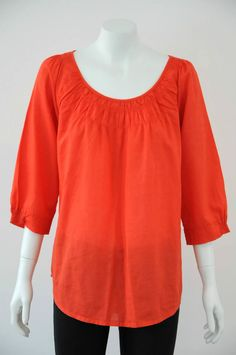 Trenery by Country Road  Women s Cotton Blend Round Neck Top {Size L /14}