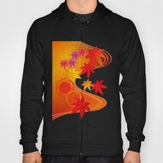 Beautiful black Japanese Maple Leaf Hoodie. Unique.  Designed by artist. Not sold in retail shops. $42