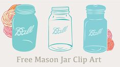 This Free Mason Jar Clip Art Images + Vector Will Make Cute Additions to your Blog and Other Creative Uses You Can Find for Them! Free Mason Jar Goodness. | pinned by weememories www.weememories.net