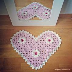 Pretty in pink!  Min prästkragematta är en romantisk dröm i rosa! #diy #virkat #virkstagram #crochet