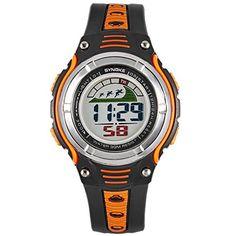 TANGDA SYNOKE Studenten Armbanduhr Unisex Jungen Mädchen Wandern Armband Uhr Elektronische Sport Uhren Alltagsleben Wasserdichte Kids Digitaluhr Alarm Wrist Watch - Orange - http://uhr.haus/synoke/tangda-synoke-studenten-armbanduhr-unisex-uhr-7