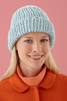 ff83222c654 Loom Double Knit Hat- This double knit hat is knit with the Martha Stewart  Crafts