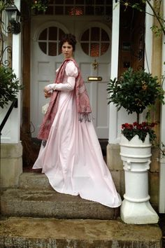 This was a tea gown created for the Jane Austen Festival in Bath, England.