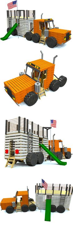 Two part tractor trailer play-set plan. Download and start building today!