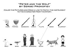 Peter+and+the+Wolf+matching+and+coloring+page.jpg 1083 × 832 bildepunkter