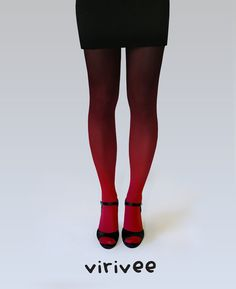 Redblack ombre tights by virivee on Etsy, $35.00. I just bought a pair! So amazing!
