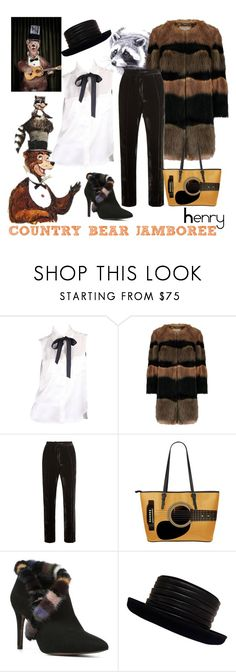 """""""Henry - Frontierland Contest"""" by sarina-noel ❤ liked on Polyvore featuring Karl Lagerfeld, Serena Bute, Donald J Pliner, Kokin, country, disney and countrybearjamboree"""