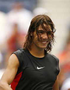 Rafael Nadal shared by ¡sobriquet! on We Heart It Vintage Tennis, Raging Bull, Rafael Nadal, Athletic Men, 13 Year Olds, Tennis Players, My Man, Real Madrid, We Heart It