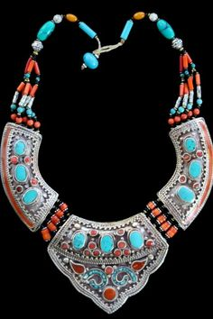 Contemporary Nepalese Tribal Jewelry Necklace