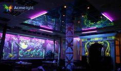Diseño interior con pintura fluorescente. www.acmelight.la https://www.facebook.com/acmelightlatino
