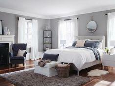 Graue Farbe Schlafzimmer Ideen Wandgestaltung