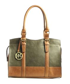 Take a look at this Moss Green Jane Satchel by emilie m. on #zulily today!