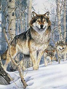 Wolf Pack Hunt Cross Stitch Pattern LOOK by JAYLM2006 on Etsy, $4.95