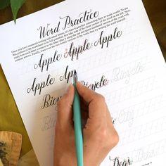 Beth Style Calligraphy Worksheet Set | The Postman's Knock