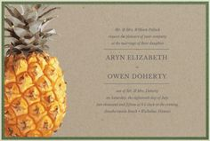 pineapple wedding in