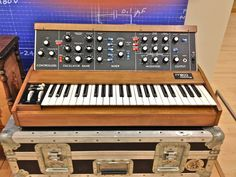 The venerable Mini Moog synth - super FAT! - from the collection at the Music Instrument Museum (MIM), Phoenix Moog Synthesizer, Vintage Synth, Analog Synth, Recording Equipment, Studio Gear, Drum Machine, Music Images, Electronic Music, Music Songs